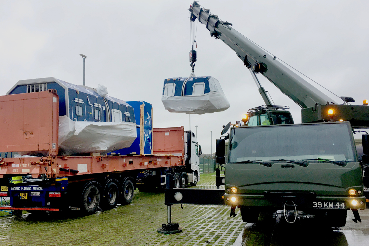 Delivery of units to Yeovilton