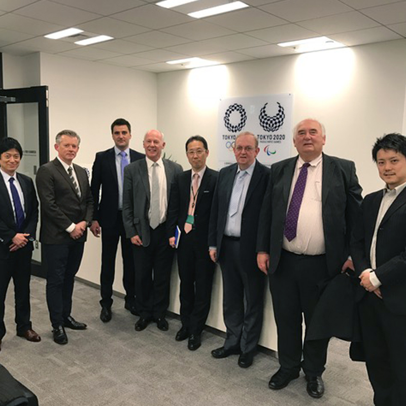 With the British Trade Delegates at the Tokyo Olympic offices