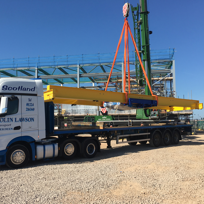 Offloading the crane at Yeovilton
